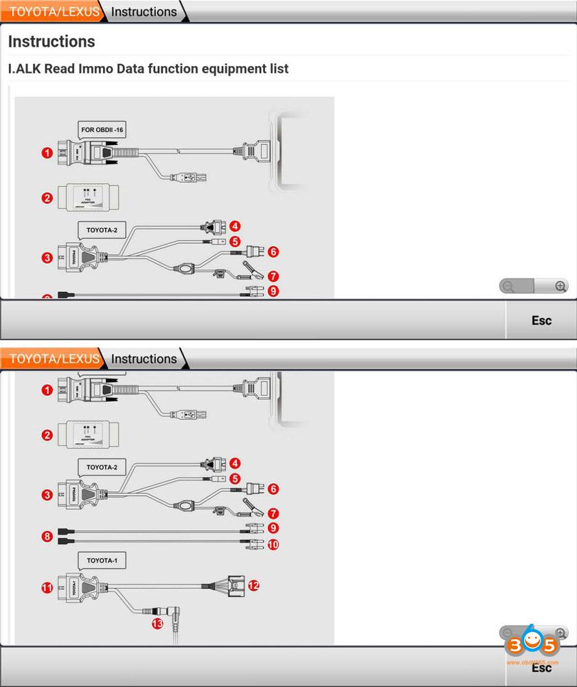 Obdstar P002 Toyota 8a Non Smart Key All Keys Lost 07
