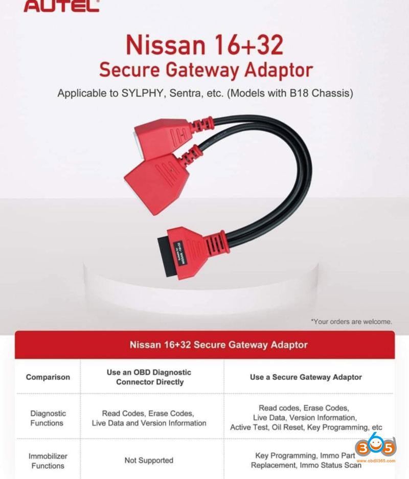 Autel Im608 Nissan Bypass Cable 2