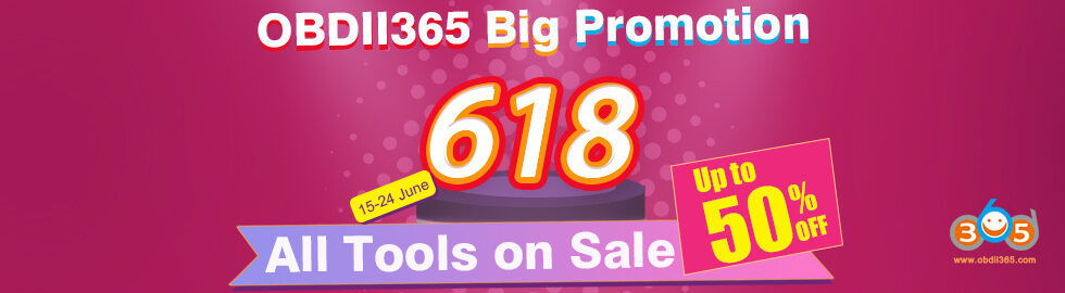 Obdii365 618 Promotion
