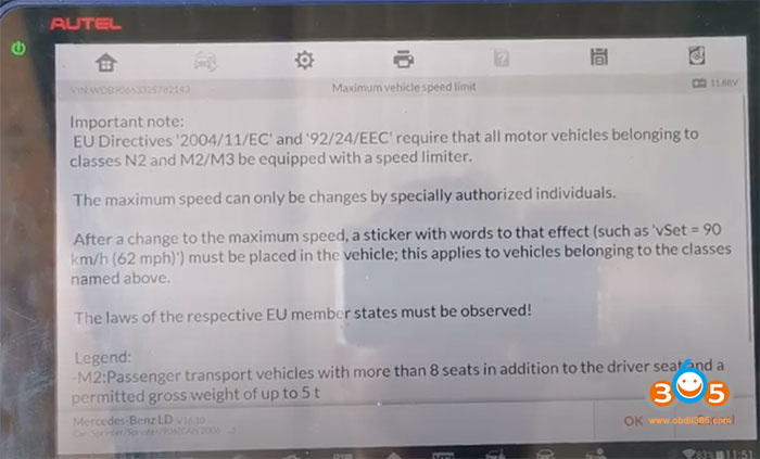 Im608 Sprinter W906 Change Speed Limit 4