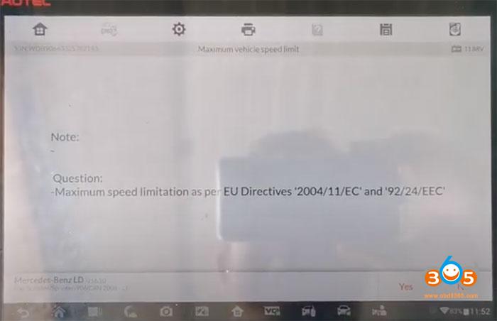 Im608 Sprinter W906 Change Speed Limit 5