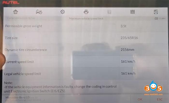 Im608 Sprinter W906 Change Speed Limit 7