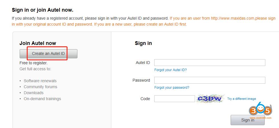 Register Update Autel Otofix Im1 01