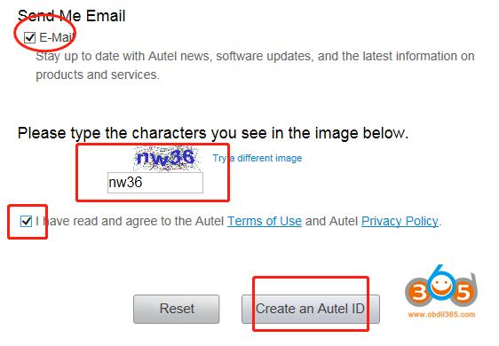 Register Update Autel Otofix Im1 03