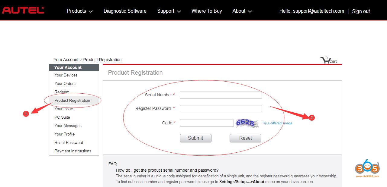 Register Update Autel Otofix Im1 05