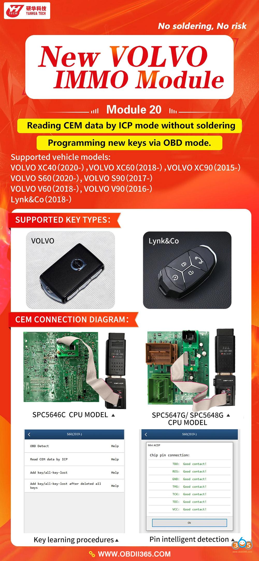 Yanhua Mini Acdp New Volvo 2020 Key Programming 01