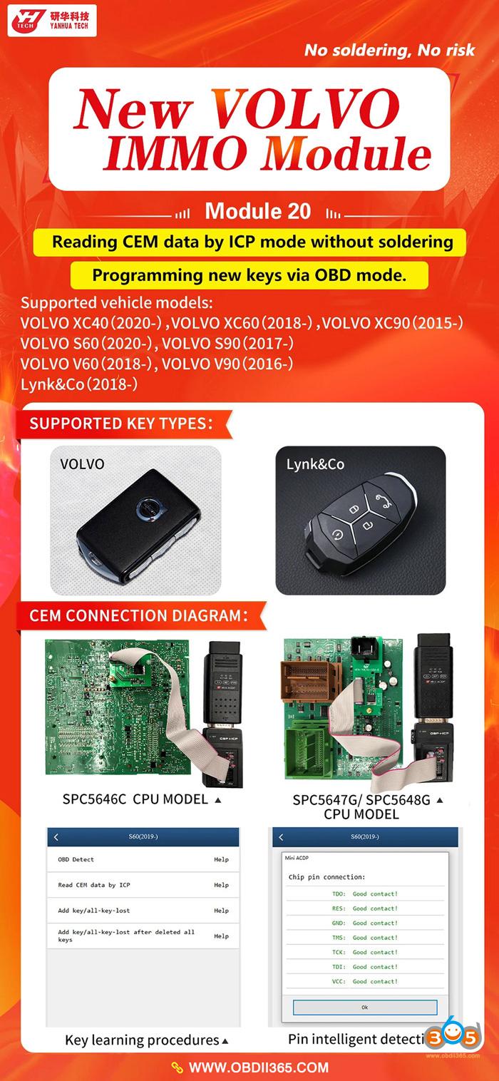 02 Yanhua Mini Acdp New Volvo 2020 Key Programming