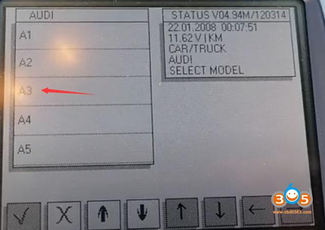 Audi A3 Cluster Calibration 04