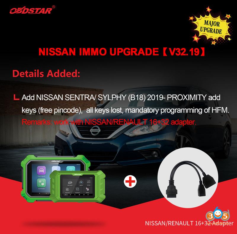 Obdstar Update Nissan