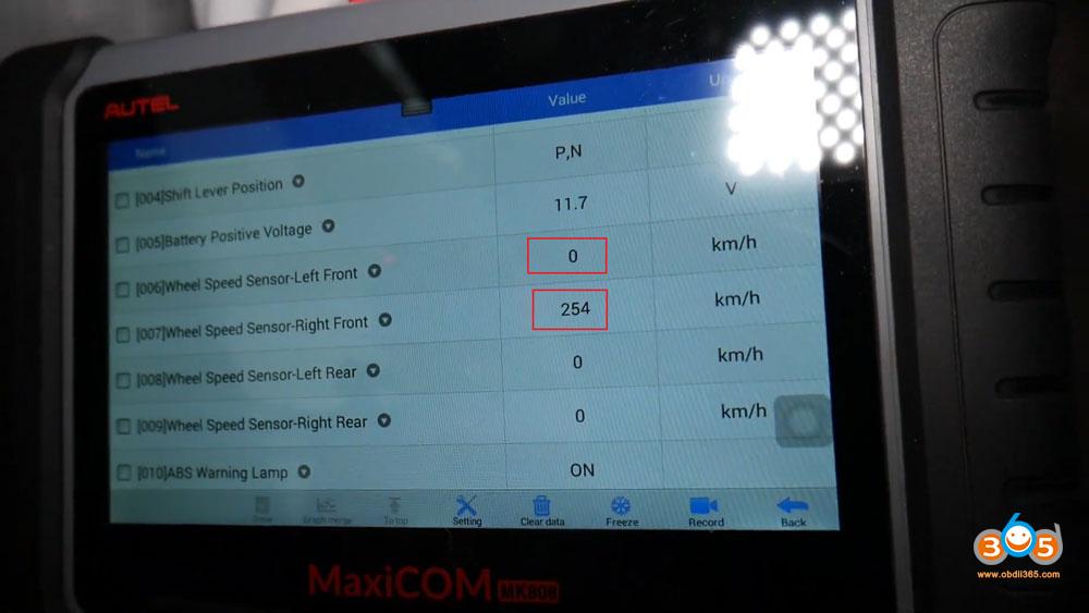 15 Autel Maxicom Mk808 Reset Hyundai Abs Traction Control Light