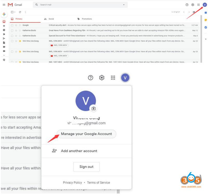 Autel Gmail Setting 3 1