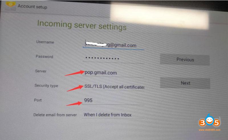 Autel Gmail Setting 9