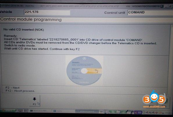 Das Update Mercedes 221.176 Navi 04