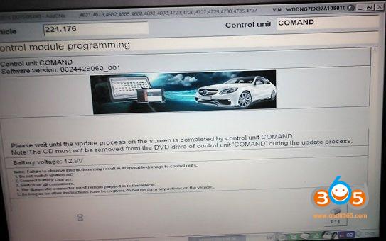Das Update Mercedes 221.176 Navi 08