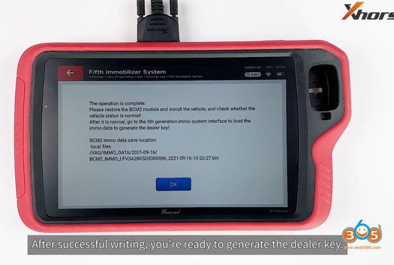 Use Audi Bcm2 Adapter With Xhorse Key Tool Plus 24